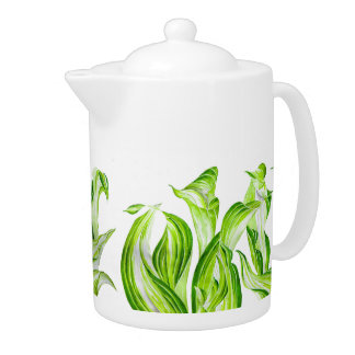 'Hosta with the Mosta' on a Tea Pot