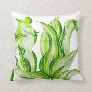 'Hosta with the Mosta' on a Throw Pillow