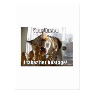 Hostage Queen Postcard