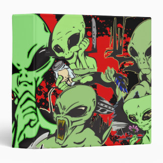 Hostile Aliens 3 Ring Binders
