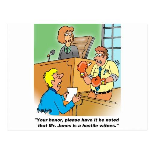 HOSTILE WITNESS POST CARDS