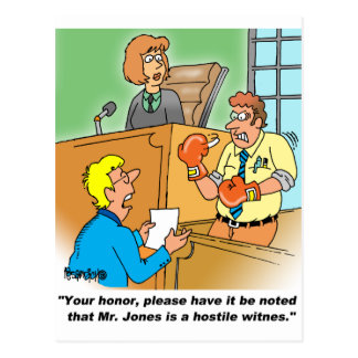 HOSTILE WITNESS POSTCARD
