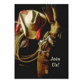 Hosting Western Themed Milestone Birthday Party Card