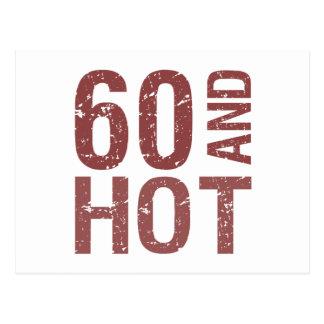 Hot 60th Birthday Postcard