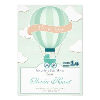 Hot Air Ballon Baby Shower Invitation (It´s a je