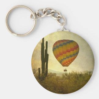 Hot Air Ballon Flight Over the Southwest Desert Keychain