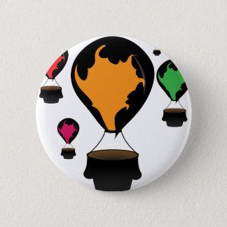 Hot air balloon 2 inch round button