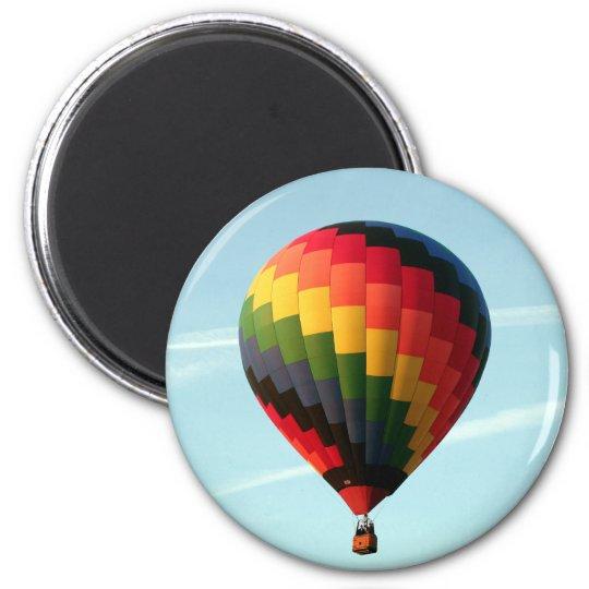 Hot air balloon aloft 2 inch round magnet