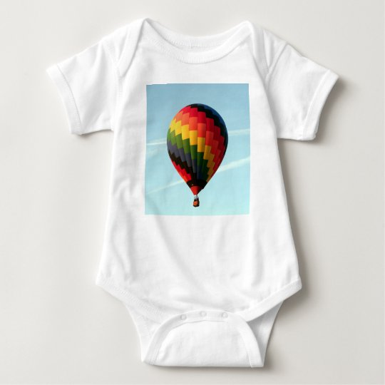 Hot air balloon aloft baby bodysuit