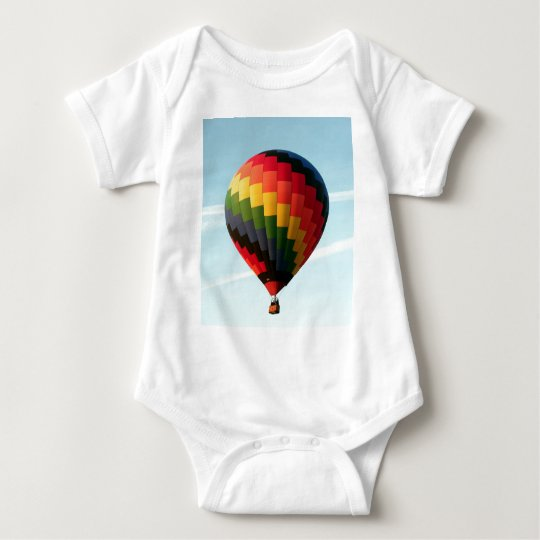 Hot air balloon aloft baby bodysuit