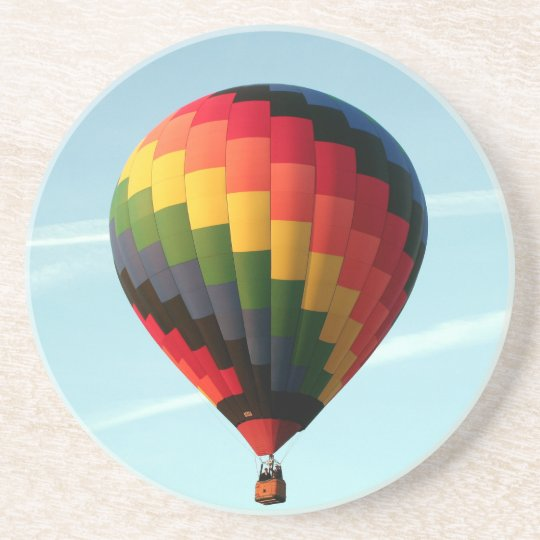 Hot air balloon aloft beverage coaster