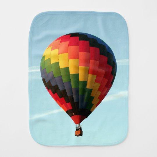 Hot air balloon aloft burp cloth