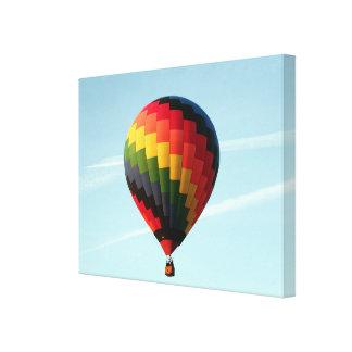 Hot air balloon aloft canvas print
