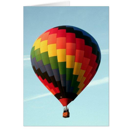 Hot air balloon aloft card