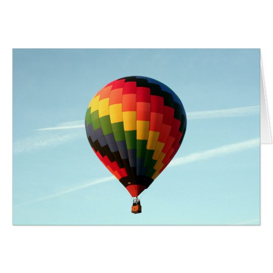Hot air balloon aloft card