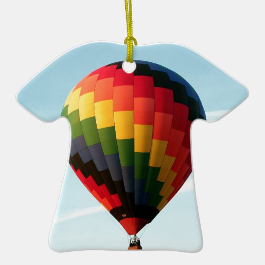 Hot air balloon aloft ceramic T-Shirt ornament