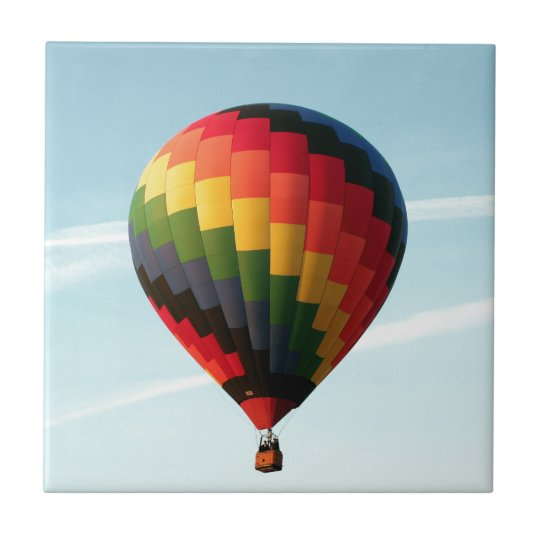 Hot air balloon aloft ceramic tiles