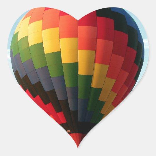 Hot air balloon aloft heart sticker