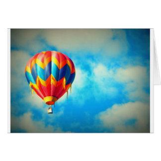 Hot Air Balloon Aloft in the Blue Sky Card