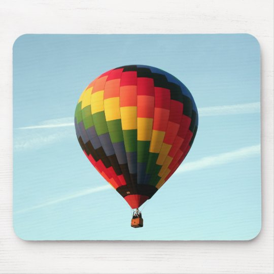 Hot air balloon aloft mouse pad