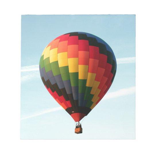 Hot air balloon aloft notepads