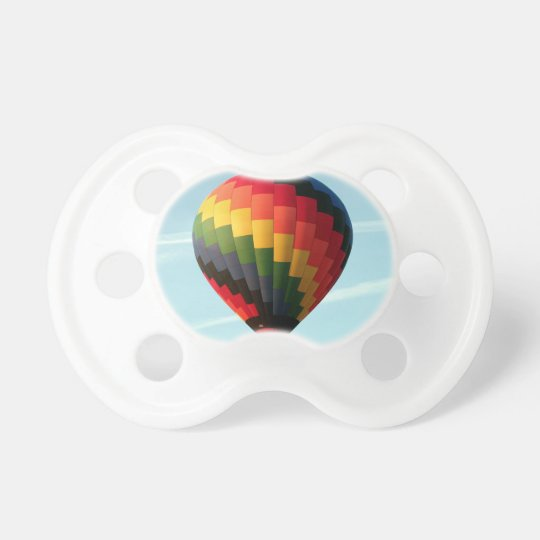 Hot air balloon aloft pacifier