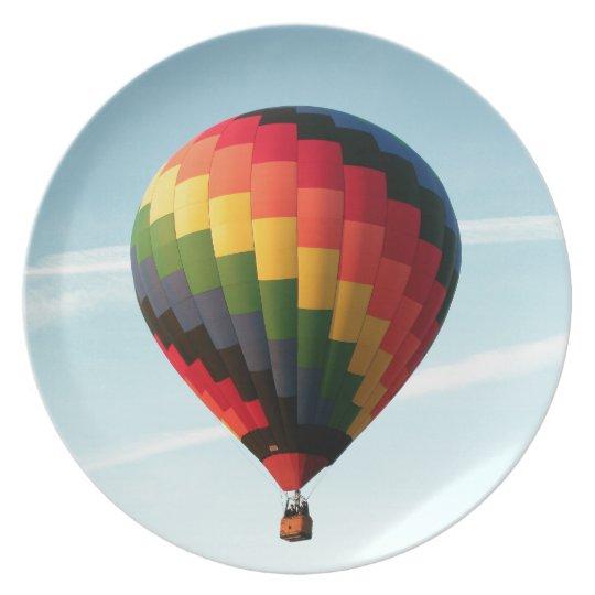 Hot air balloon aloft plate