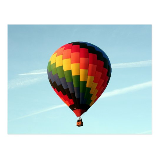 Hot air balloon aloft postcard