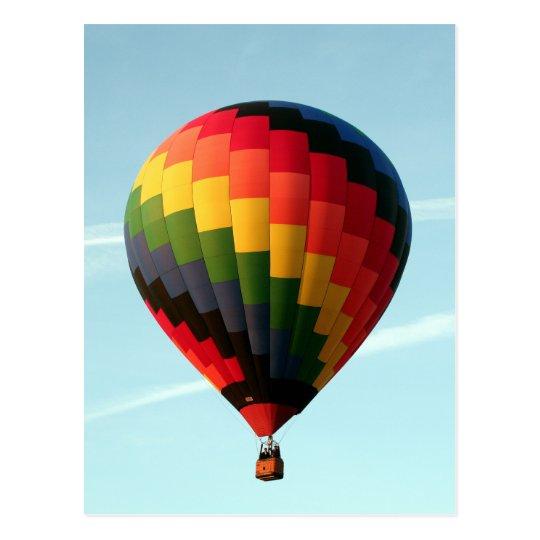 Hot air balloon aloft postcard