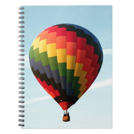 Hot air balloon aloft spiral notebook