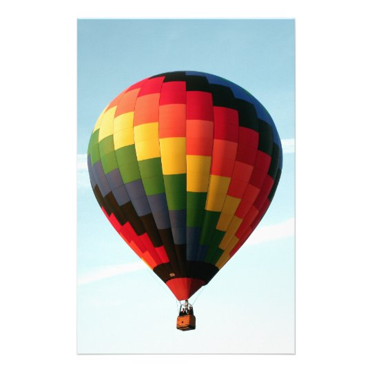Hot air balloon aloft stationery