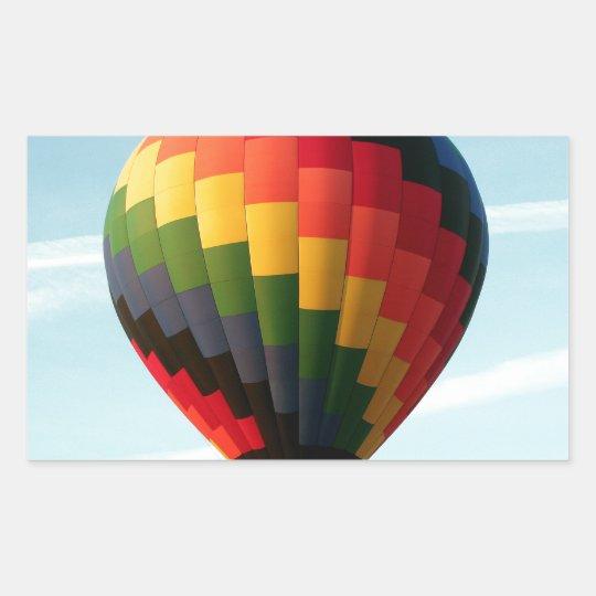 Hot air balloon aloft sticker