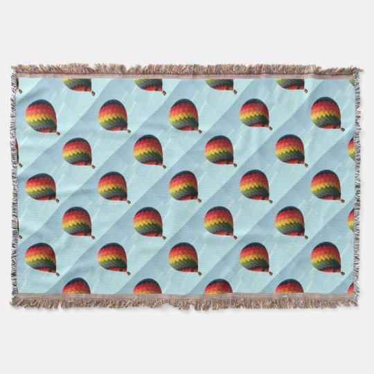 Hot air balloon aloft throw blanket