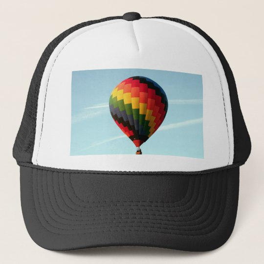 Hot air balloon aloft trucker hat
