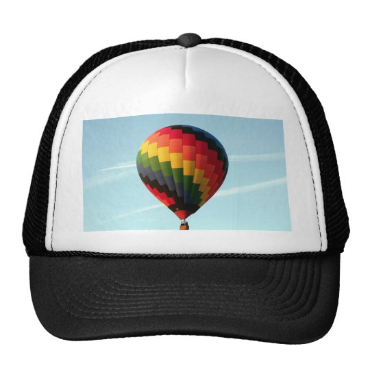 Hot air balloon aloft trucker hat