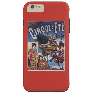 Hot-Air Balloon and Japanese Ladies Poster Tough iPhone 6 Plus Case