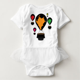 Hot air balloon baby bodysuit