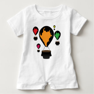 Hot air balloon baby romper