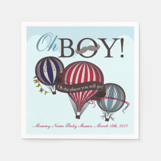Hot air balloon baby shower napkins paper napkin