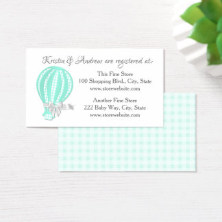 Hot Air Balloon Baby Shower Registry Business Card