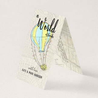 Hot Air Balloon Baby Shower | Thank You Note Card