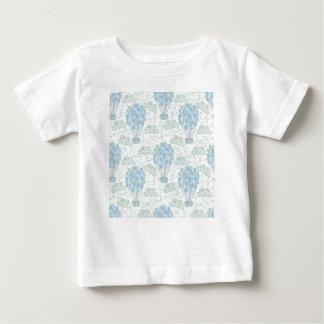 Hot air balloon balloons blue baby T-Shirt