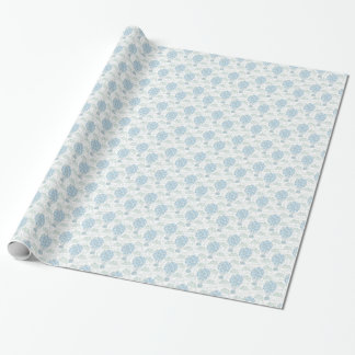 Hot air balloon balloons blue wrapping paper