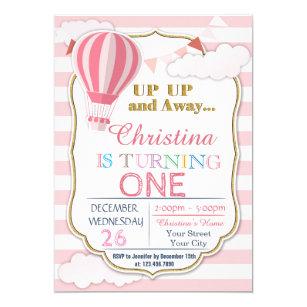 Hot air balloon invitations announcements zazzle ca hot air balloon birthday party invitation filmwisefo