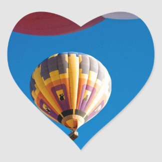 Hot Air Balloon Blue Sky Albuquerque New Mexico Heart Sticker
