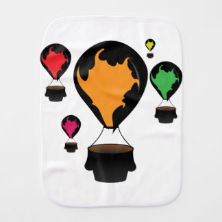 Hot air balloon burp cloth