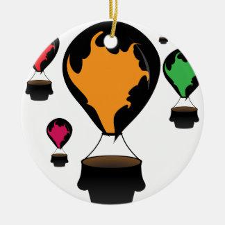 Hot air balloon ceramic ornament