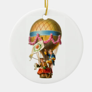 Hot Air Balloon Ceramic Ornament