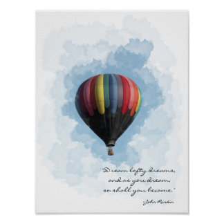 Hot Air Balloon Dream Poster
