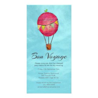 Hot Air Balloon Farewell Bon Voyage Party invite Photo Greeting Card